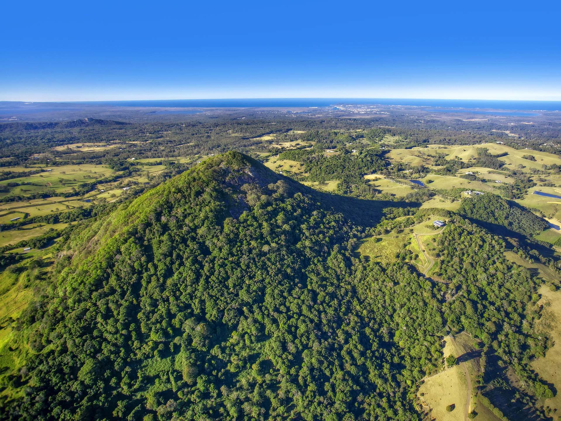 Arial view of Noosa Hinterland